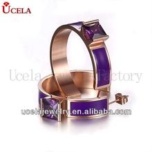 New Design Purple Gemstone fashion exotic earrings