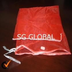 Leno mesh bag for firewood packing