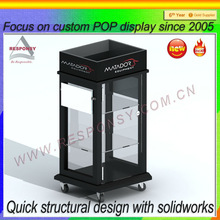 jewelry lock display stand pop custom wooden jewelry display lockable shelf