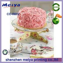 sturdy single tier cardboard cake stands,carton cupcake stand,round cupcake stand