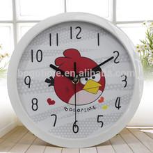 Cartoon Quartz Acrylic Wall Clock plastic wall clock