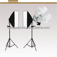 softbox photographic lighting kit 50*70cm soft+4*135W E27 bulb+2* light stand