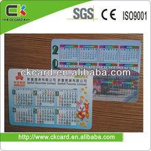 çin tedarikçisi yazdırılabilir cep boyutu takvim kartı