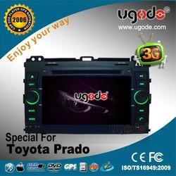 7 inch toyota prado car gps player 2000-2009,toyota proda car audio AD-6314