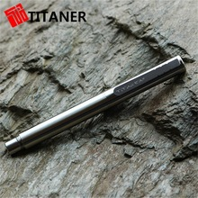 Stylish Tactical Feature Light Metal Pen, Reinforced Military Solid Titanium Pen, CNC Machined Titaner Tactical Pens