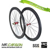 3k glossy carbon front wheel 50mm clincher for 700c carbon cyclocross wheelset