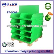 POP cardboard pallet display standing racks /Promotional cardboard retail pallet display