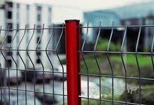Temporary Fence,PVC coating,Peach type column