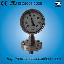 100mm all stainless steel oil liquid filled air diaphragm seal high low pressure gauge water wika
