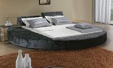 big grey round platform bed set2014