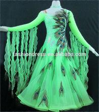 Latin Dancewear Tassel Sequins Strap Dress Rumba Cha Cha Ballroom Dance Dress free shipping B-0345