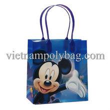lovely punho rígido saco plástico impressão de mickey mouse made in vietnam