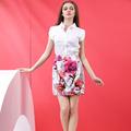 meninas modelos de estampa floral saia clássico