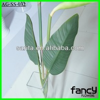 Artificial real touch bird of paradise decorative foliage