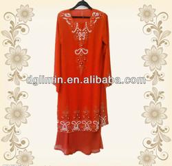 high quality plain chiffon baju kurung 2013