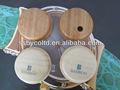 El medio ambiente de madera fsc/auriculares de color concha del oído con garving y el logotipo