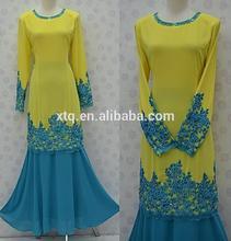 Latest design embroidered and beaded baju kurung and baju melayu