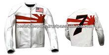 custom high end motorbike lether jacket
