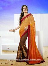 Indian Wedding Silk Saree With Crape Silk