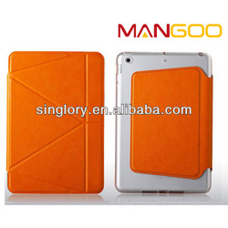 Smart cover tablet leather for ipad mini 2 folio case