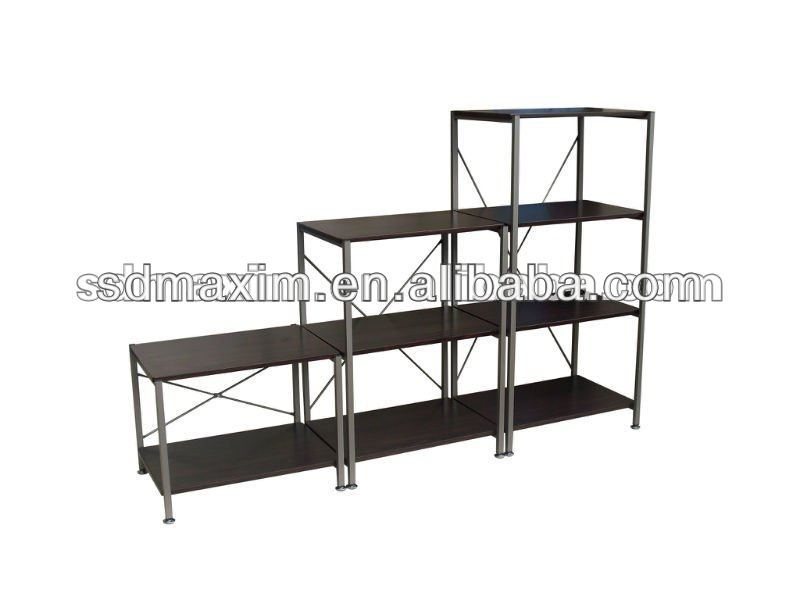 multi-function metal design wooden bookshelf B-6047/B -6083/B -60120