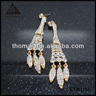 Sexy gold plated dangle style indian tops designs polki and jhumka earring ETM1156