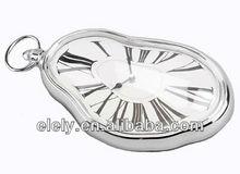 Stylish quartz melting desk alarm clock