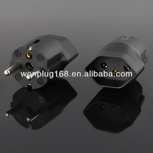 2014 newest designed Swiss to EU plug adapter with CE& ROHS certification(Inlay way)