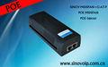 Fast ethernet de un solo puerto poe gigabit de red hub