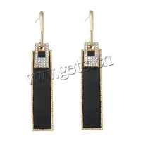 Zinc Alloy 13x75mm gold stainless steel earring