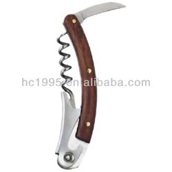 Stainless steel Wine opener hippocampal knife.Wine bottle opener.