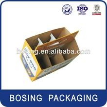 6 bottle cardboard carrier, beer holder