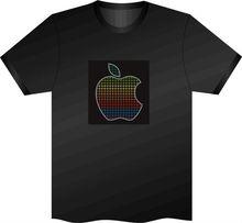 1000 Designs EL panel T shirt/LED T SHIRT led sound activated t shirts
