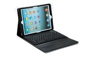 Black Silicone Bluetooth Wireless Keyboard PU Leather Case Cover Stand for Apple New iPad 5 iPad Air