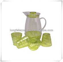 Plastic Embossed paunchy 5pcs cold teapot china eco plastic Pitcher