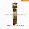 sr021 engenharia comprimido pedra rack carrinho de exposição