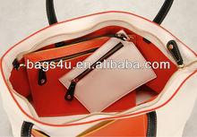 High Quality PU Woman Handbag Shopper Bag