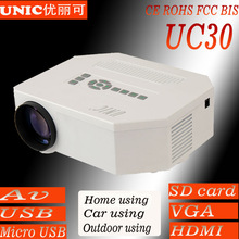 Hottest!!!UC30 1080p support AV USB SD VGA HDMI Micro USB usb projector,hdmi projector,mobile phone projector