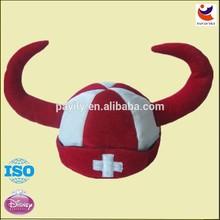 Alta qualidade da moda de pelúcia pente de chifre carnaval chapéus de enfermeira, chapéu do partido
