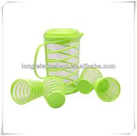 drinkware 5pcs green transparent plastic cups sets