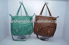 2013 Trendy Vintage Lady Handbags Washed PU Tote Bags