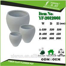 backyard fiberglass planter pottery flower pots