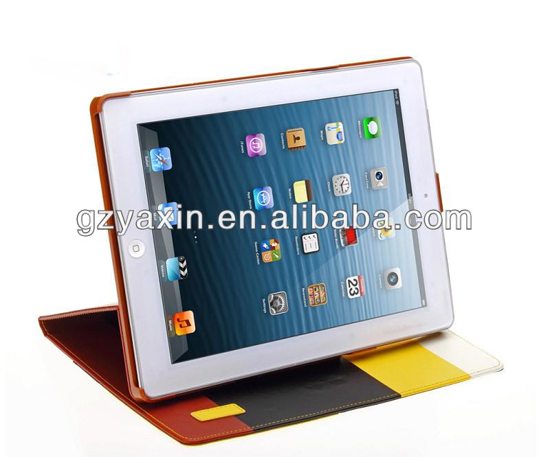 2014 nuovo prodotto per ipad mini caso con portafoglio design in pelle