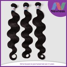 Newness body wave virgin brazilian hair extension,100 human hair Plain OPP bag with white card, or custom logo packing
