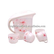 cooler tea kettle and 4cups set plastic tea cups sets
