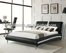 King Size Black&White Latest Soft Leather PU Bed WSB836