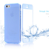 Flip cover transparent case jelly shape with dustproof plug for iphone 5 tpu case
