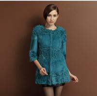2014 Fashion Rabbit Fur And Lamb Fur Coat/Stock