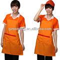 de comida rápida uniformes de supermercado