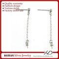xd p255 925 de fantasía de plata de ley colgante stud pendientes con perlas de correos